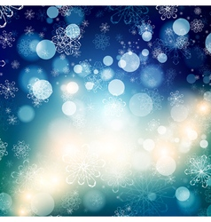 Snowflake Christmas Background vector image