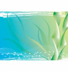 under water and seaweed vector image vector image