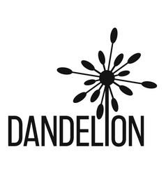 Yellow dandelion logo icon simple style vector