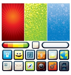 Funky Phone Set Graphics vector image