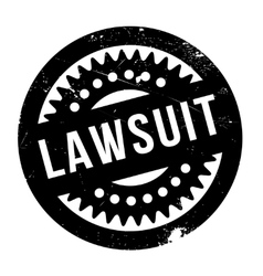 Lawsuit rubber stamp vector