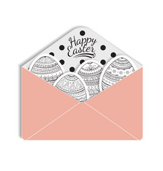 paper mail envelope with a easter egg vector image