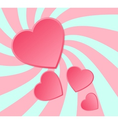 Pink paper hearts background vector image