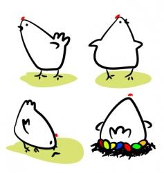 hens vector image