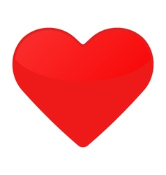 Isolated red heart on a white vector