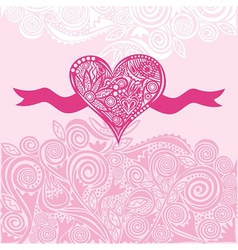 Valentines day card heart vector