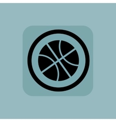 Pale blue basketball sign vector