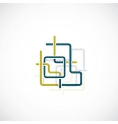 Digital network concept vector image