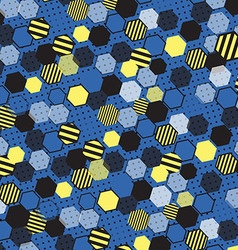 Blue honeycomb vector