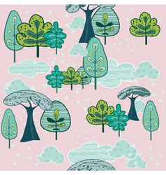 Forest background pattern vector