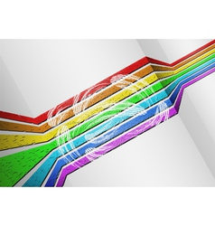 Voluminous rainbow background vector