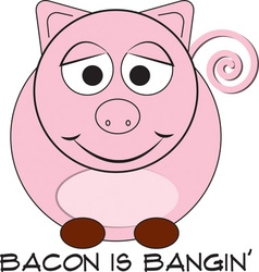 Bacon is bangin vector