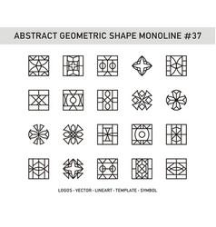 Abstract geometric shape monoline 37 vector