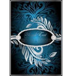 antique blue background vector image