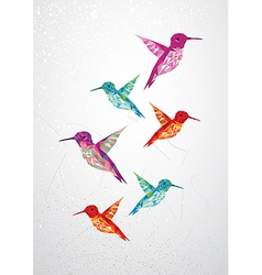 Beautiful humming birds vector