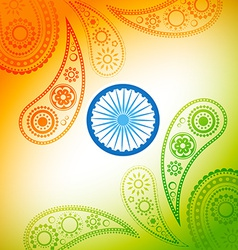 beautiful indian flag design vector image