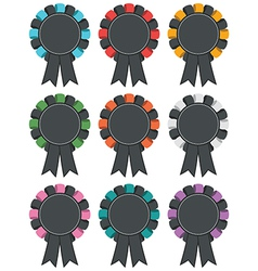 black rosettes vector image vector image