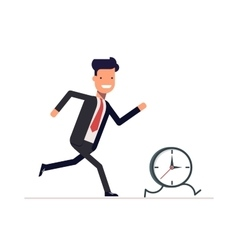 Businessman or manager runs the clock Man does vector image