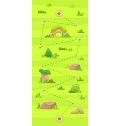 Cartoon game map for casual games Graphic user vector image vector image