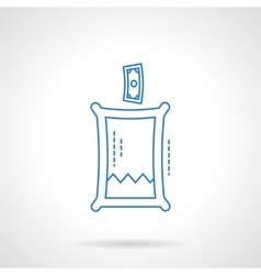 Charity fund flat line icon vector