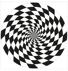 Circle of abstract chess isolated object vector image vector image