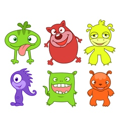 Cute monsters set two vector image vector image