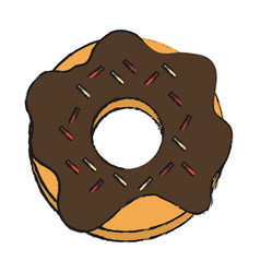 Donut fast food icon image vector