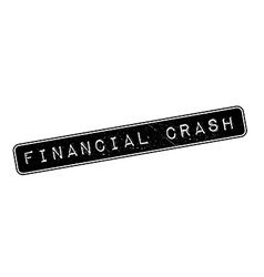 Financial crash rubber stamp vector