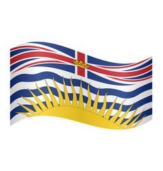 Flag of british columbia waving white background vector