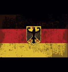 Flag of germany in retro style vector