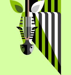 flat portrait zebra vector image vector image
