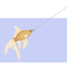 Goldfish2hook2 vector