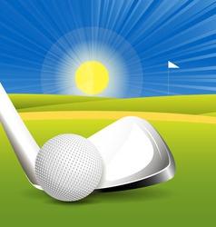 golf concept vector image