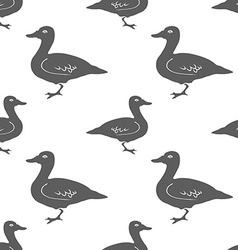 Hand Drawn Duck silhouette seamless pattern vector image