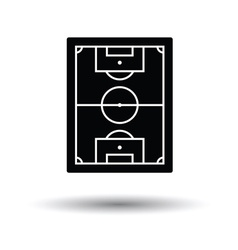 Icon of aerial view soccer field vector image