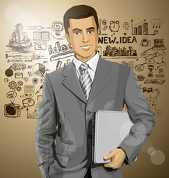 manager vector image vector image