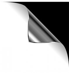 metallic curled corner vector image vector image