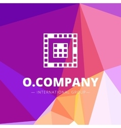 pixel style geometric O letter logo on low vector image vector image