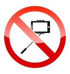 Selfie forbidden icon vector