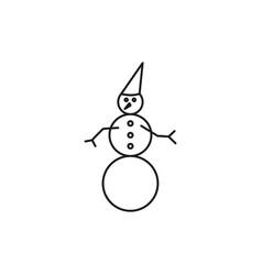 snow man icon vector image vector image
