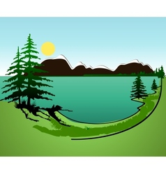 Summer in the mountains background vector image