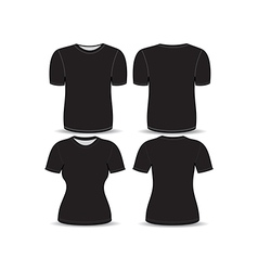 T shirt black template vector image