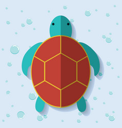 Tortoise icon sea animal cartoon graphic vector