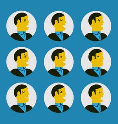 Various facial expressions vector