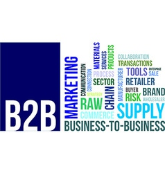 word cloud b2b vector image vector image