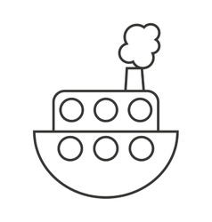 Ship boat toy kids vector