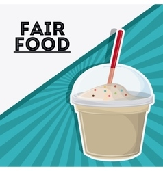 Milk shake fair food snack carnival icon vector