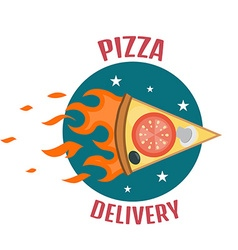 Pizza delivery logo fast delivery logo one vector