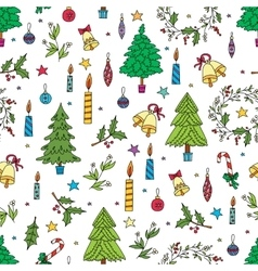 Christmas decoration seamless pattern background vector