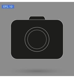 image black Camera Icon vector image